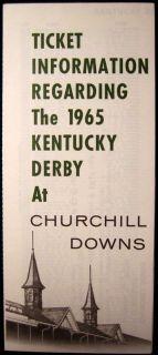 Derby Ticket Information Brochure Churchill Downs Horse Racing