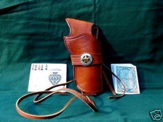 Western Cowboy Holster Fastdraw/Crossdraw Tan 5 1/2