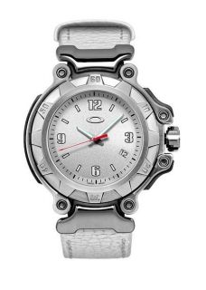 LADIES 3HAND SMALL WATCH WHITE FACE/WHITE LEATHER STRAP 10 240