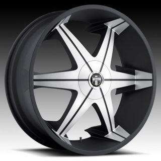26 DUB BIG HOMIE lll 3 Wheel SET 26x9.5 Black Milled Rims For RWD 5