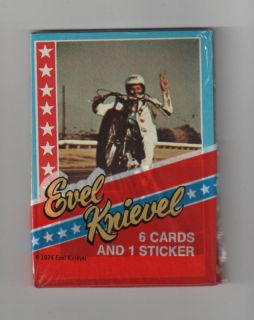 1974 Topps Evel Knievel Unopened Wax Pack   MINT
