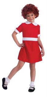 Child Little Annie Orphan Red Dress Costume Halloween