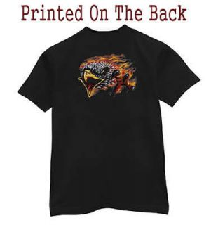 Pocket T shirt * Eagle Flames Biker Choppers Tee Shirt