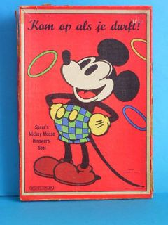 rare early vintage Disney Mickey Mouse germany dutch holland ring toss