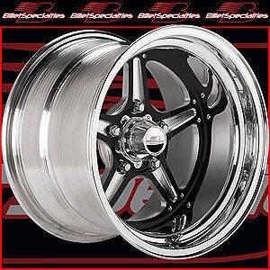 Billet Specialties BRS035106565 Street Lite Black Race Wheel Size 15