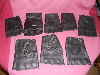 Mixed Lot 8 Individual Fingerless Leather Gloves Mixed Sizes 5 Right 3