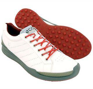 New Mens ECCO Biom Hybrid Golf Shoes White/Red Size 10 10.5 EU 44