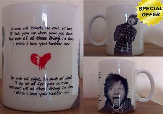 Custom design 2012 Ed Sheeran lego house celebrity coffee mug