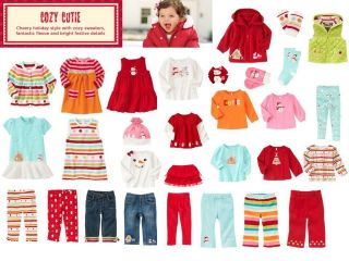 Gymboree Cozy Cutie Tee Skirt Leggings Pants Hat Mittens Sweater Dress