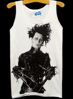 EDWARD SCISSORHANDS Johnny Depp Rock Tank T Shirt S/M