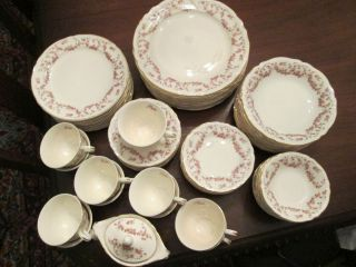 LOT of 85 pieces EDWIN M KNOWLES china LORRAINE pattern beautiful