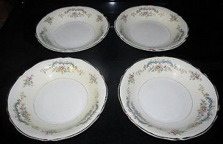 Edwin M. Knowles China Semi Vitreous Salad Soup Cereal Bowls Floral