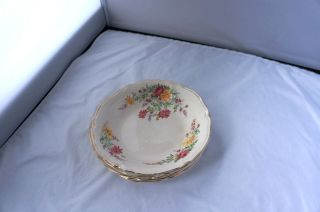 Vintage Edwin M. Knowles Semi Vitreous China lidded Soup Tureen, Gold