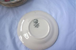 Edwin M. Knowles Semi Vitreous China Set of 7 Bread Plates Style 46