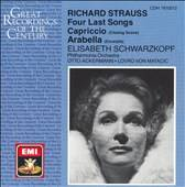 Richard Strauss Four Last Songs Capriccio Arabella by Anny Felbermayer
