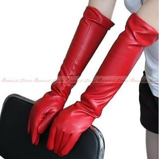 New Fashion Long elbow soft PU leather gloves Ladies evening Party