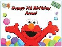 Elmo Birthday Cake Edible Image : ABBY CADABBY Edible CAKE Image Icing Topper Personalize