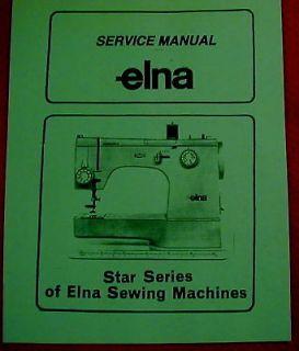 Elna Star Series 62 64 72 74 31 33 Sewing Machine Service Manual