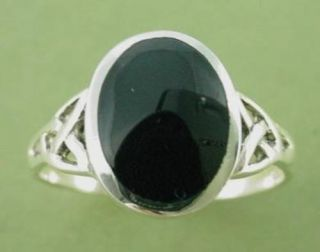 sterling silver black onyx celtic ring sizes 5 10 more options ring