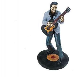 Elvis King of Rock & Roll Skeleton Statue  The King  Unique