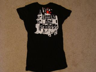 EMILY STRANGE House Skull Baby Doll T Shirt Small