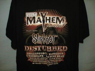RETRO RockStar Energy Drink Mayhem Tour Shirt Mens XL Disturbed