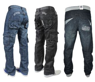 High Quality Mens Boys Enzo Branded Denim Fashion Jeans Trousers Size