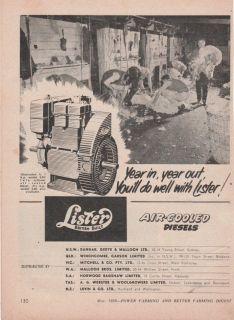 Vintage 1958 LISTER AIR COOLED DIESEL ENGINES SHEEP SHEARING