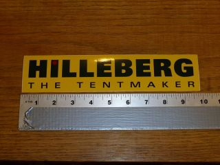Hilleberg Large Yellow Sticker Decal