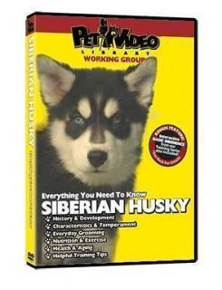 SIBERIAN HUSKY ~ Puppy ~ Dog Care & Training DVD +BONUS