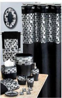 bathroom rug set black in Bathmats, Rugs & Toilet Covers
