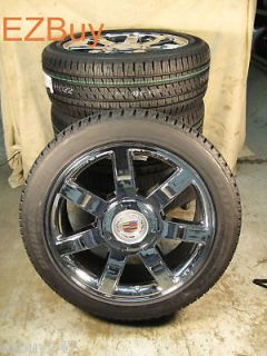 22 ESCALADE FACTORY CHROME WHEELS 285 45 22 BRIDGESTONE TIRES 5309