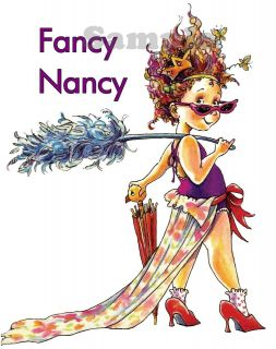 FANCY NANCY T SHIRT~Childs XS XL, 18 Doll size OR get a Matching