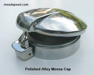 Monza Cap 2, Alloy Fuel cap, Norton, BSA, Triumph, AJS, Triton, Oil