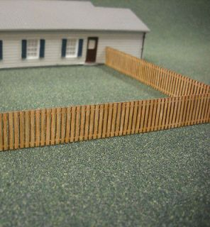 HO Scale **Laser Cut** Custom Fence 152 Scale Feet