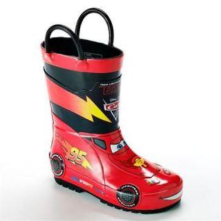 TODDLER BOYS Disney/pixar CARS 2 RED RUBBER rain boots MULTIPLE SIZES