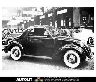 1939 Simca Fiat 500 Topolino Factory Photo