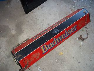 NICE Vintage Budwieser Pool Table Light   48 1/2 Long   Great