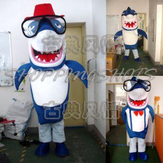 Fierce CARTOON Shark MASCOT COSTUME R00387 Fancy Dress adult one size
