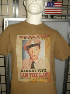 Mens The Andy Griffith Show Barney Fife Nip it in the Bud T Shirt