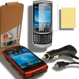 Charger for Blackberry Torch 9800 9810 F Guard Film LCD Pouch Holster