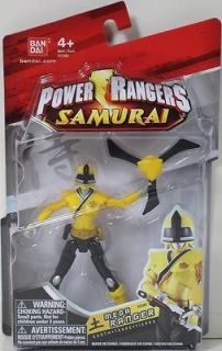 POWER RANGERS SAMURAI 4 MEGA RANGER EARTH Figure #31505 YELLOW MIGHTY