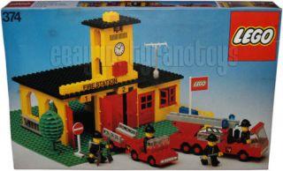LEGO 374 Fire Station MIB Vintage HTF DENMARK 1978 RARE