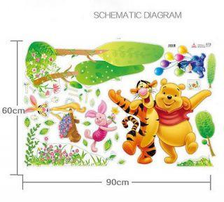 AQW Funny Winnie The Pooh Tigger Friends decal Decor Wall Sticker for