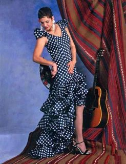 Folkwear 140 Flamenco Dress, Practice Skirt, Salsa, Ballroom Sewing