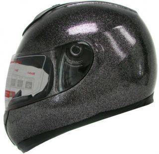 Metal Flake Glitter Metalflake Black Motorcycle Full Face Street