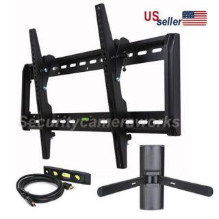 flat lcd led panel plasma tv tilt swivel wall mount bracket+DVD mount