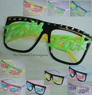 Rave Glow Neon Lmfao Costume Party Rock Glasses _Retro Wayfayer