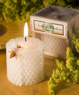 50 Natural Pure Beeswax Candles Wedding Bridal Shower Party Favors