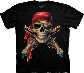 New PIRATE SKULL & CROSS MUSKETS T Shirt
